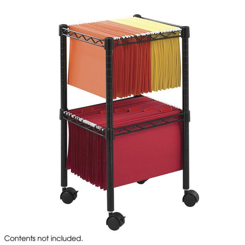 Safco 5221BL 2-Tier Compact File Cart - Peazz Furniture