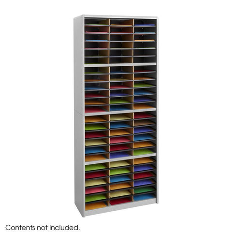 Safco 7131GR Value Sorter® Literature Organizer, 72 Compartment - Safcomart