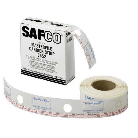 "Safco 6552 2-1/4""W Polyester Carrier Strips for MasterFile 2 - Peazz Furniture"