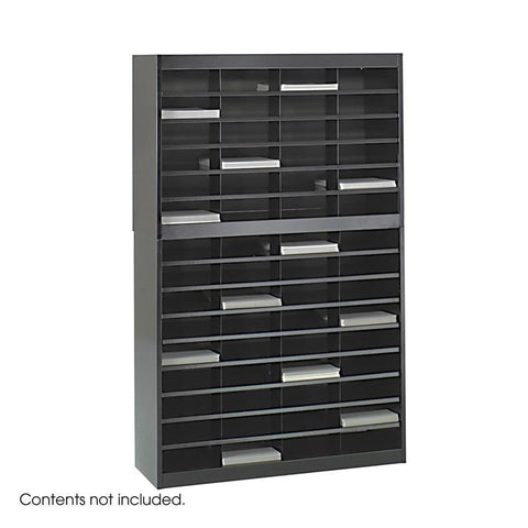 Safco 9231BLR E-Z Stor® Literature Organizer, 60 Letter Size Compartments - Peazz Furniture