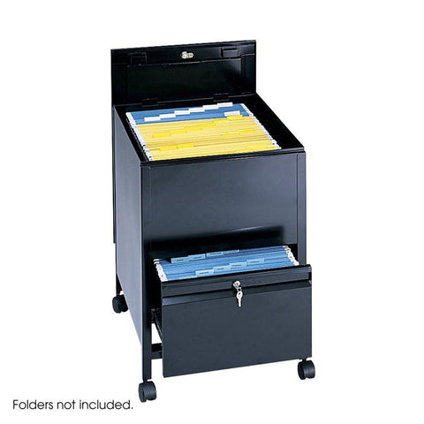 Safco 5365BL Locking Mobile Tub File with Drawer, Legal Size - Peazz Furniture