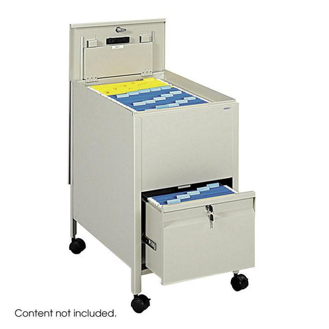 Safco 5364PT Locking Mobile Tub File with Drawer, Letter Size - Peazz Furniture