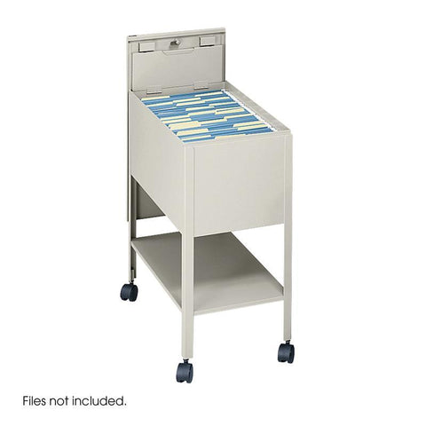 Safco 5362PT Extra Deep Mobile Tub File with Lock, Letter Size - Peazz Furniture
