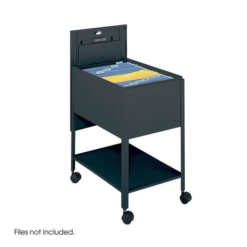 Safco 5363BL Extra Deep Mobile Tub File with Lock, Legal Size - Peazz Furniture