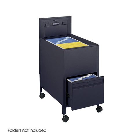 Safco 5364BL Locking Mobile Tub File with Drawer, Letter Size - Peazz Furniture