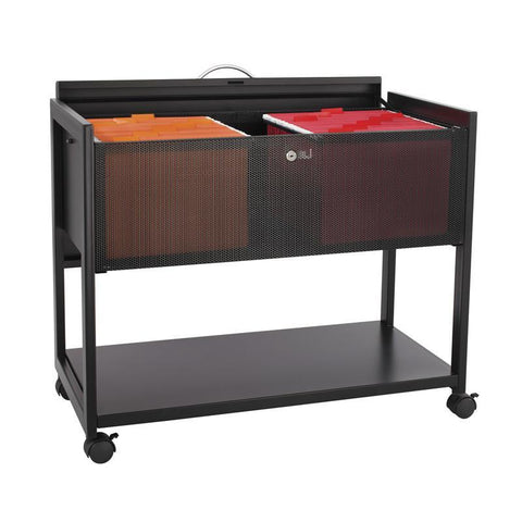 Safco 5353BL Mobile File with Locking Top - Peazz Furniture