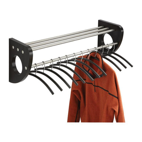 "Safco 4212BL Mode™ 36"" Wood Wall Coat Rack With Hangers - Safcomart"