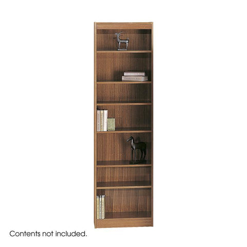 "Safco 1515MOC 7-Shelf Veneer Baby Bookcase, 24""W - Peazz Furniture"
