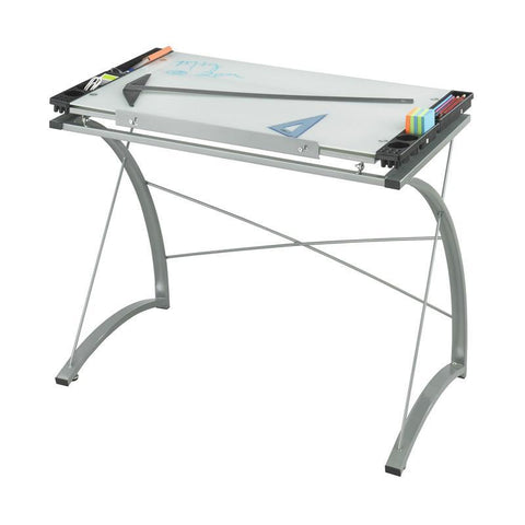 Safco 3966TG Xpressions™ Glass Top Drafting Table - Safcomart