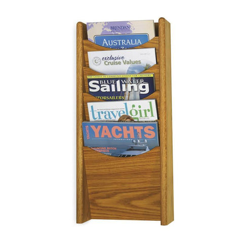 Safco 4330MO 5-Pocket Wood Magazine Rack - Safcomart