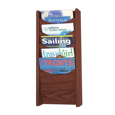Safco 4330MH 5-Pocket Wood Magazine Rack - Safcomart