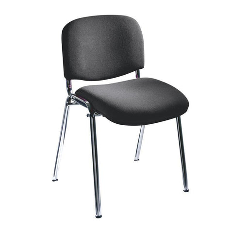 Safco 7400BL Visit Upholstered Stacking Chairs (Qty.2) - Peazz Furniture