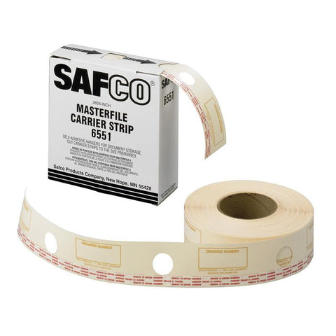 Safco 6551 Film Laminate Carrier Strips for MasterFile 2 - Peazz Furniture