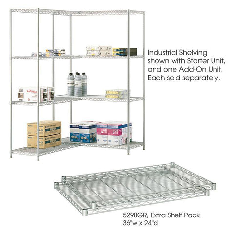 "Safco 5290GR Industrial Extra Shelf Pack, 24 x 36"" - Peazz Furniture"