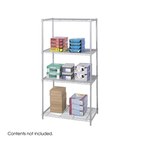 "Safco 5288GR Industrial Wire Shelving, 36 x 24"" - Peazz Furniture"