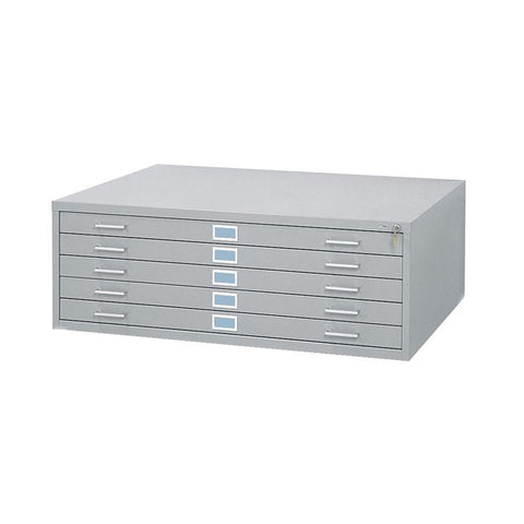 "Safco 4996GRR 5-Drawer Steel Flat File for 30"" x 42"" Documents - Safcomart"