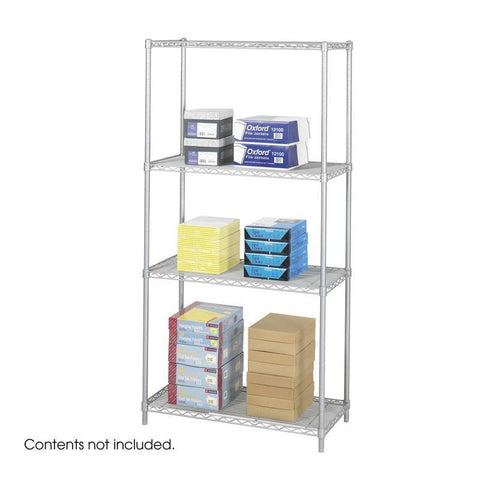 "Safco 5285GR Industrial Wire Shelving, 36 x 18"" - Peazz Furniture"