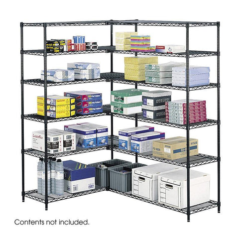 "Safco 5291BL Industrial Wire Shelving, 48 x 18"" - Peazz Furniture"