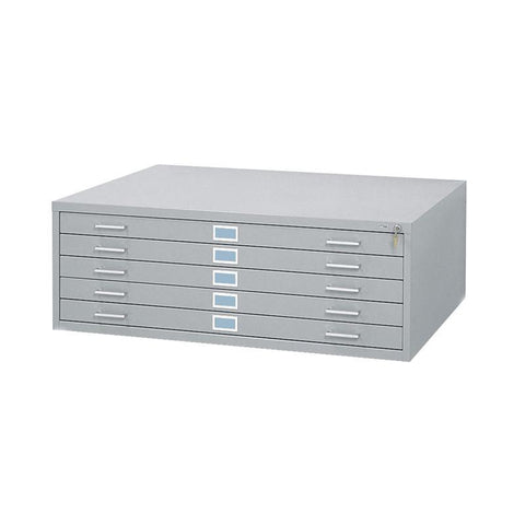 "Safco 4998GRR 5-Drawer Steel Flat File for 36"" x 48"" Documents - Safcomart"