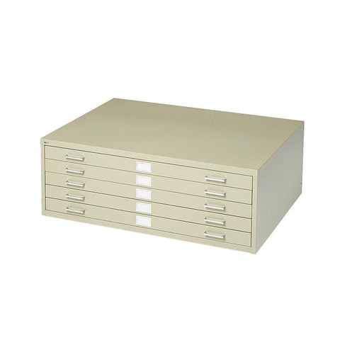 "Safco 4994TSR 5-Drawer Steel Flat File for 24"" x 36"" Documents - Safcomart"