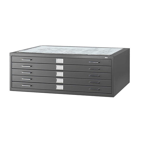 "Safco 4998BLR 5-Drawer Steel Flat File for 36"" x 48"" Documents - Peazz Furniture"