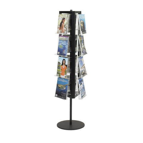 Safco 4113BL In-View™ Rotary Literature Display - Safcomart