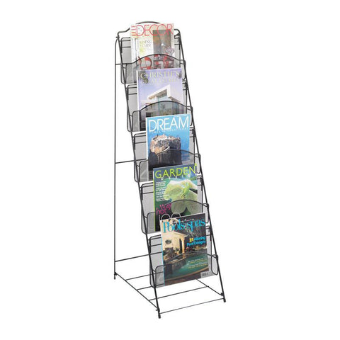 Safco 6461BL Onyx™ Floor Rack 5 Pocket - Peazz Furniture