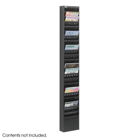 Safco 4322BL 23-Pocket Steel Magazine Rack - Safcomart