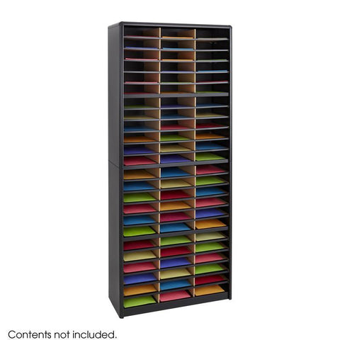 Safco 7131BL Value Sorter® Literature Organizer, 72 Compartment - Peazz Furniture