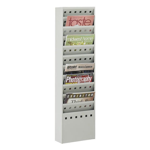 Safco 4321GR 11-Pocket Steel Magazine Rack - Safcomart