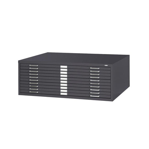 "Safco 4986BL 10-Drawer Steel Flat File for 30"" x 42"" Documents - Safcomart"