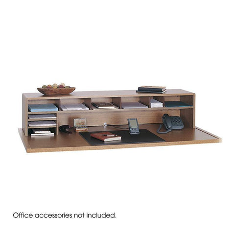 "Safco 3671MO 58""W Low Profile Desk Top Organizer - Safcomart"