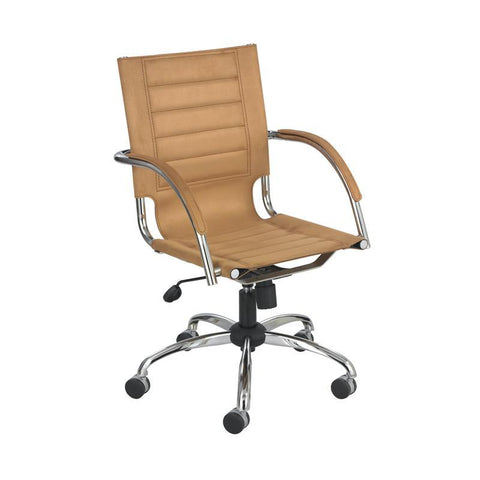 Safco 3456CM Flaunt™ Managers Chair Camel Micro Fiber - Safcomart
