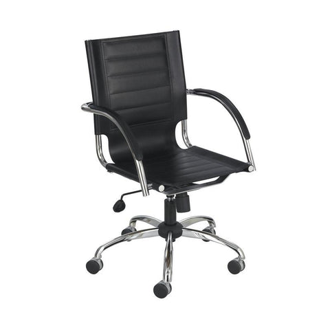 Safco 3456BL Flaunt™ Managers Chair Black Leather - Safcomart