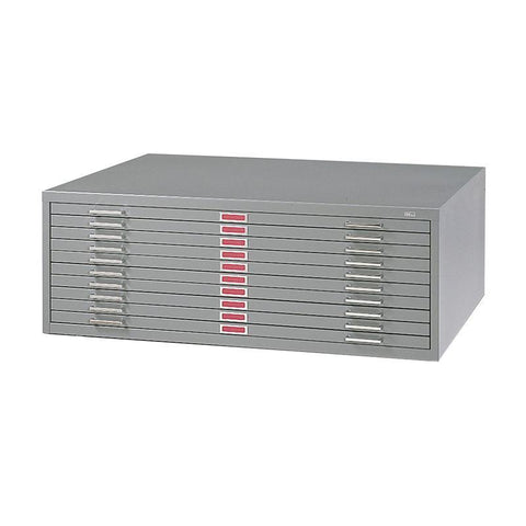 "Safco 4986GR 10-Drawer Steel Flat File for 30"" x 42"" Documents - Safcomart"