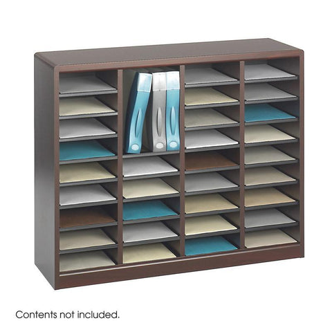 Safco 9321MH E-Z Stor® Wood Literature Organizer, 36 Compartments - Peazz Furniture
