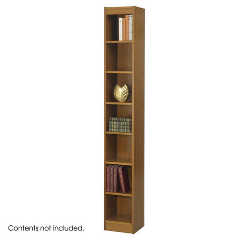 "Safco 1514MOC 7-Shelf Veneer Baby Bookcase, 12""W - Peazz Furniture"