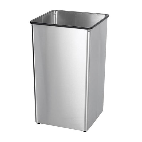 Safco 9663SS Stainless Steel 36-Gallon Receptacle Base - Peazz Furniture