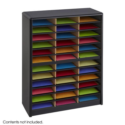 Safco 7121BL Value Sorter® Literature Organizer, 36 Compartment - Peazz Furniture