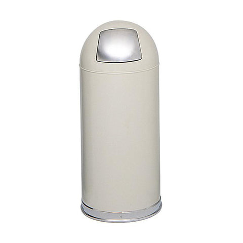 Safco 9636PT Push Door Dome Top Receptacles - Peazz Furniture