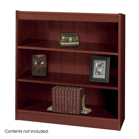 Safco 1502MHC 3-Shelf Square-Edge Veneer Bookcase - Safcomart