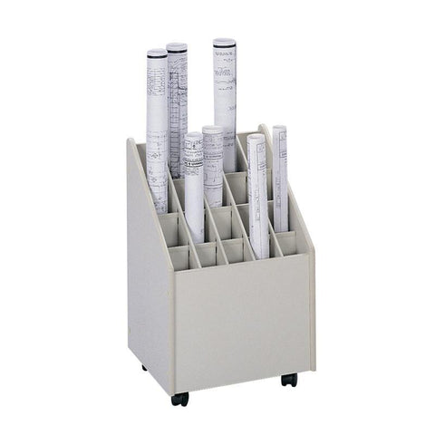 Safco 3082 Mobile Roll File, 20 Compartment - Peazz Furniture