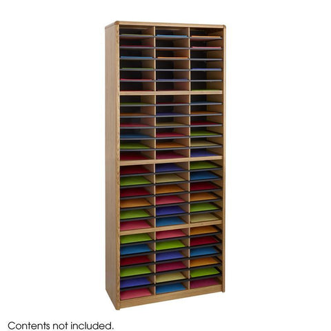 Safco 7131MO Value Sorter® Literature Organizer, 72 Compartment - Peazz Furniture