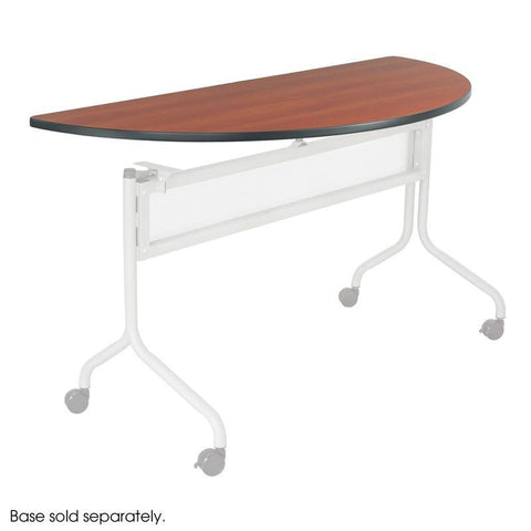 Safco 2068CY Impromptu® Mobile Training Table Half Round Top 48x24 - Safcomart