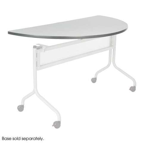 Safco 2068GR Impromptu® Mobile Training Table Half Round Top 48x24 - Safcomart