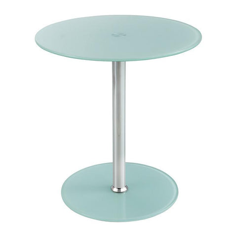 Safco 5095WH Glass Accent Table - White - Peazz Furniture
