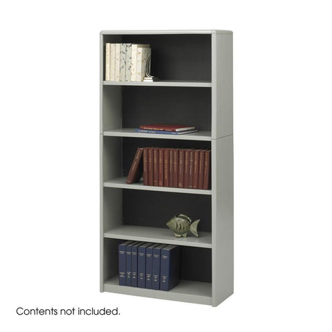 Safco 7173GR 5-Shelf ValueMate® Economy Bookcase - Peazz Furniture
