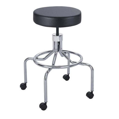 Safco 3433BL Lab Stool, High Base with Screw Lift - Safcomart