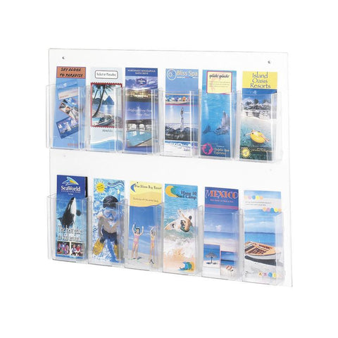 Safco 5671CL Clear2c™ 12 Pamphlet Display - Peazz Furniture
