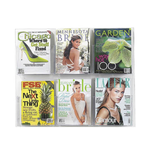 Safco 5667CL Clear2c™ 6 Magazine Display - Safcomart